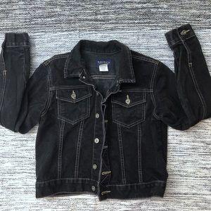 Nautica Black Jean Jacket size medium